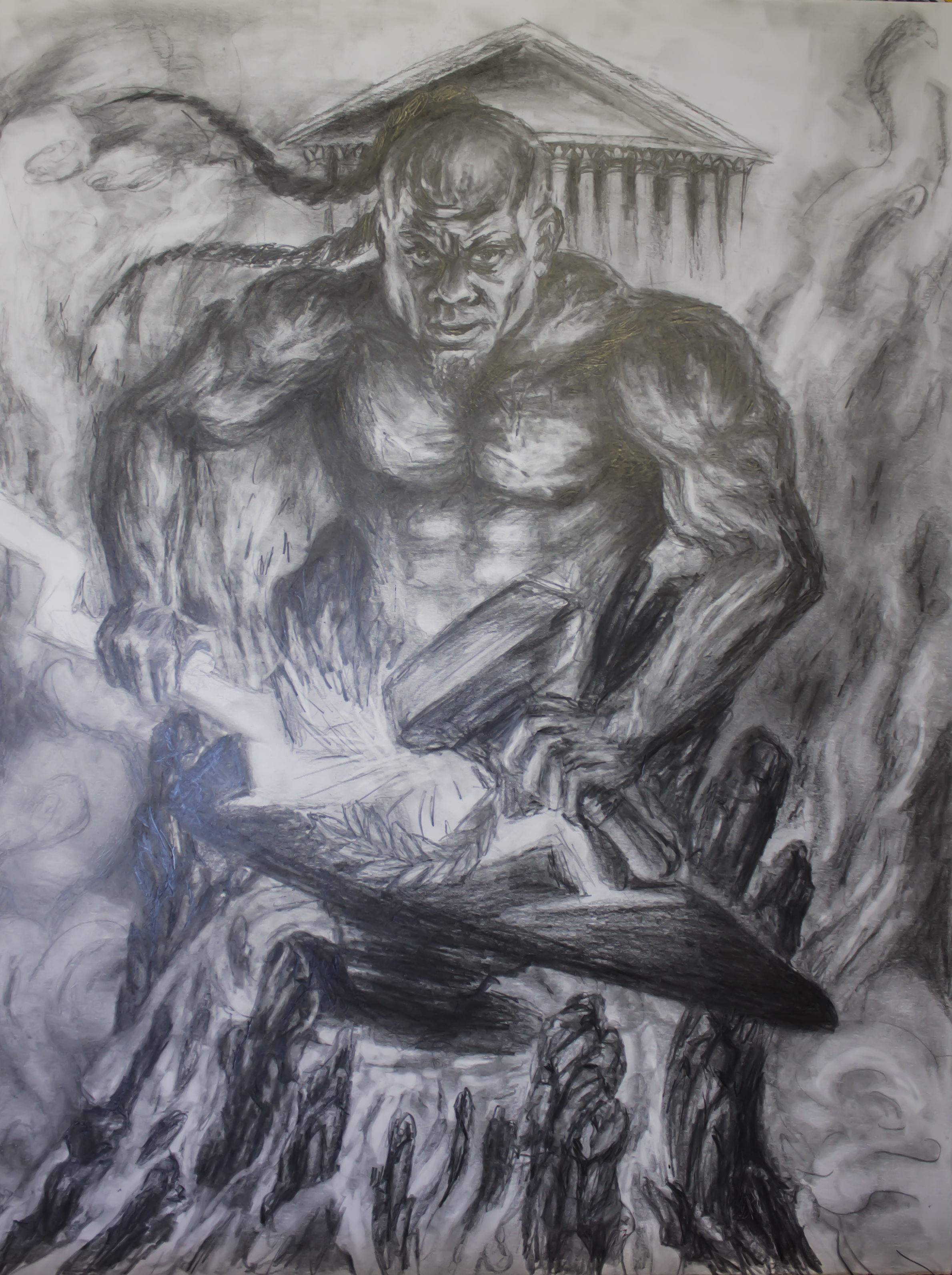 Kai greene as hephestus damaris artistry for Kai greene painting